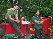 From left to right, Team Leader Lawrence and Arborist Adrian thumb
