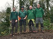 From left to right, Arborist Will, Machine Operator Mike K, Arborist Dean and Arborist Mike W thumb